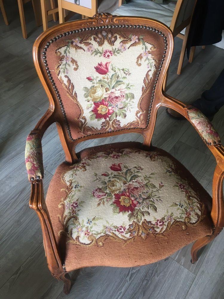 Przepiękny fotel krzesło oryginalny antyk do Twojego wnętrza