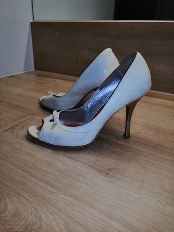 Buty Bolucci skórzane 37 kremowe