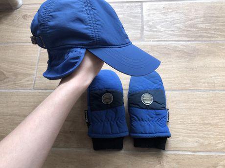 Набор детский шапка и перчатки