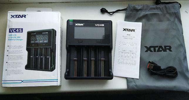 XTAR VC4S зарядное устройство 4 ампера QC3.0 18650/26650/20700/21700