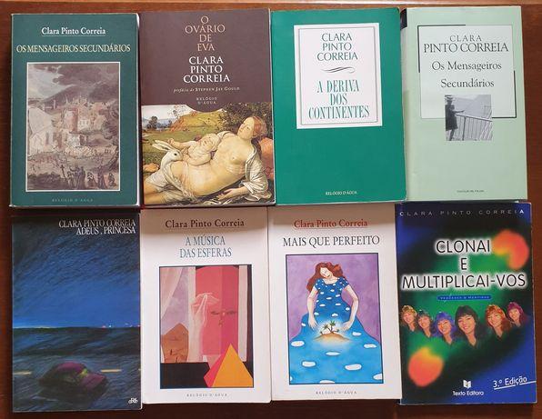 Lote de livros de Clara Pinto Coreia Ovário Eva Deriva dos Continentes