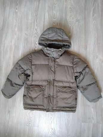Пуховик H&M зимняя куртка курточка парка 128-134 7-8-9 лет мальчику