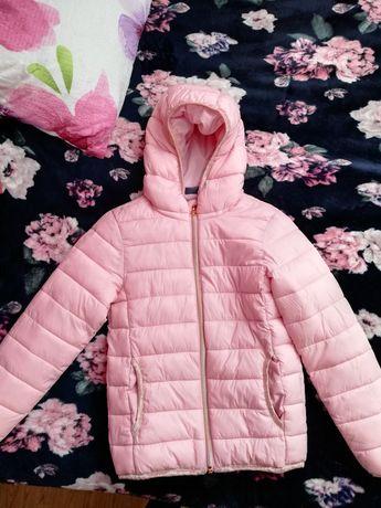 Jesienno-wiosenna kurtka dla dziewczynki rozmiar 128
