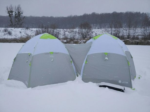 Палатка для зимней рыбалки Лотос 3 Универсал. Алюминевый каркас