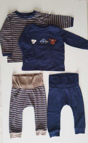 Zestaw dla chłopca bluzki legginsy firmy next rozm. 68 74