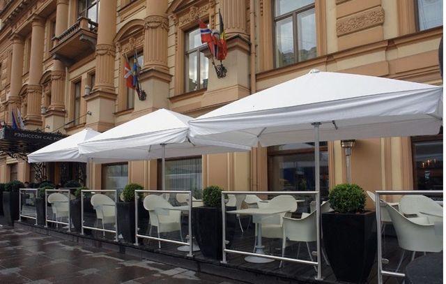 Зонт для летней площадки, кафе,ресторанов,торговый,уличный,пляжный 4х4