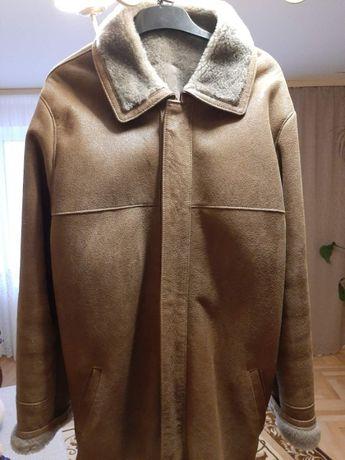 Нова турецька шкіряна чоловіча куртка-дубленка
