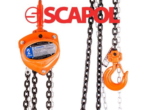 Wciągnik łańcuchowy ręczny 2000 kg / 6m łańcuch