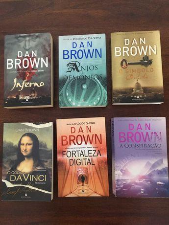 DAN BROWN - Colecção de livros ( 6 unidades )