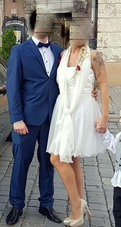 Suknia ślubna krótka 42 wyszczuplająca