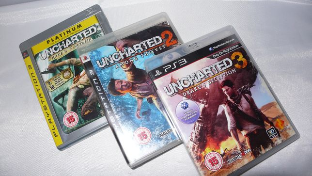 Zestaw 3 części Uncharted 1,2,3 PS3 Playstation3 Playstation 3