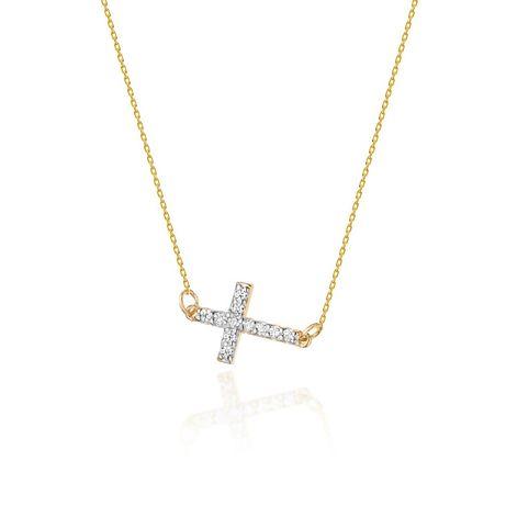 Goldrun Złota Celebrtyka Krzyżyk z Brylantami