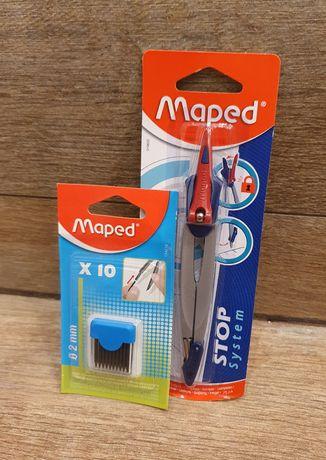 Nowy cyrkiel szkolny MAPED Stop system - blokada ramion
