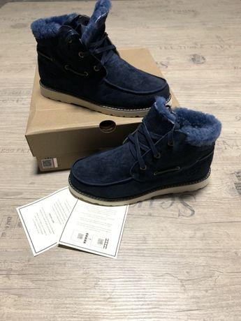 UGG УГГИ ботинки зимние натуральные 100% синие в наличии