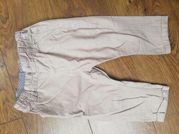 Spodnie chłopięce rozmiar 74 beżowe
