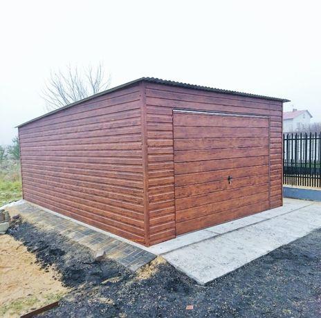 Garaże Blaszane Wzmocniony BLASZAKI producent garaży RÓŻNE WYMIARY
