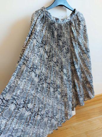 Spódnica plisowana, snake print, S, Reserved