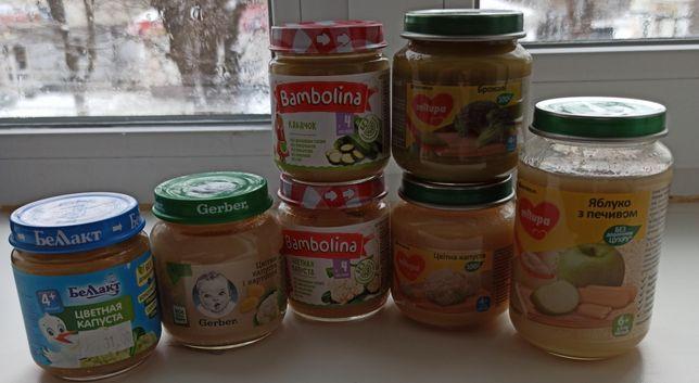 Овощные пюре, 20 грн баночка