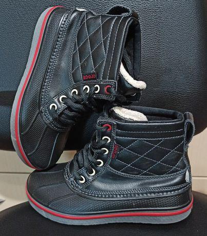 Термо ботинки сапоги crocs allcast waterproof р. J 2