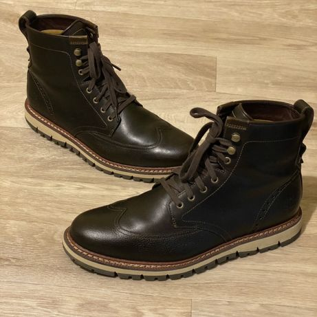 Кожаные ботинки броги Timberland waterproof размер 43 27,5см Ecco