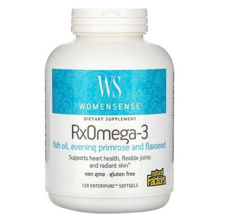 Омега 3, формула для женщин, RxOmega-3, Natural Factors, 120 капсул