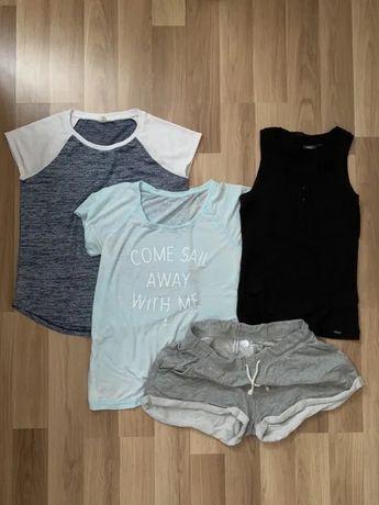 Ubrania 4szt rozm. S/M tshirt spodenki H&M gap esprit mexx