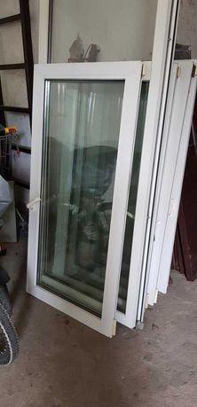 Sprzedam 4 sztuki okien i drzwi balkonowe (PCV dwuszybowe)