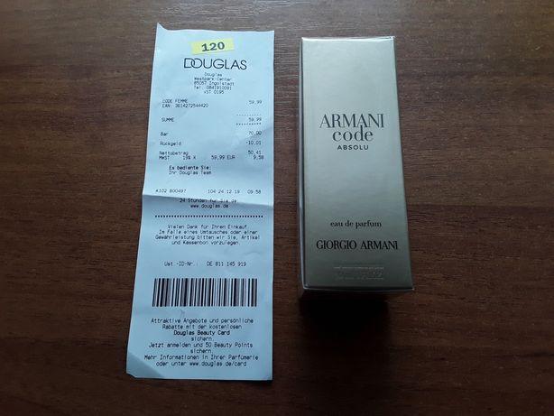 Armani Code Absolu eau de parfum made in France женские духи 30ml