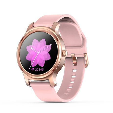 Smartwatch Damski Złoty Różowy Zegarek R2 / Rozmowy, PL menu
