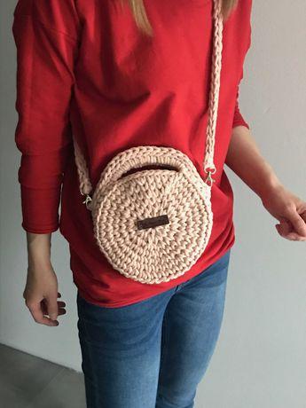 torebka-kuferek pudrowy róż handmade