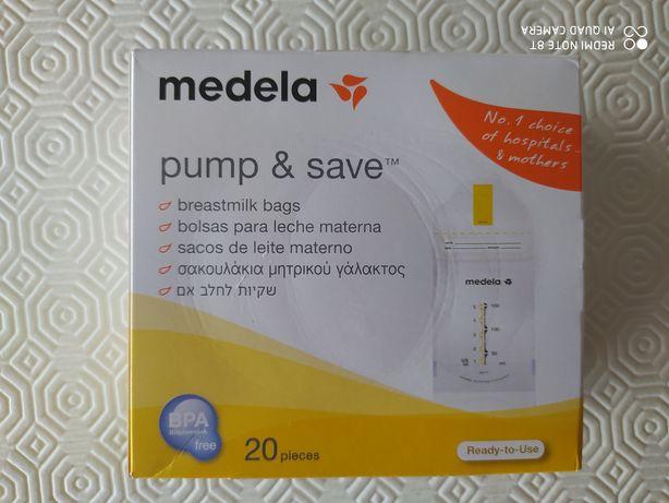 Sacos para leite materno da marca Medela