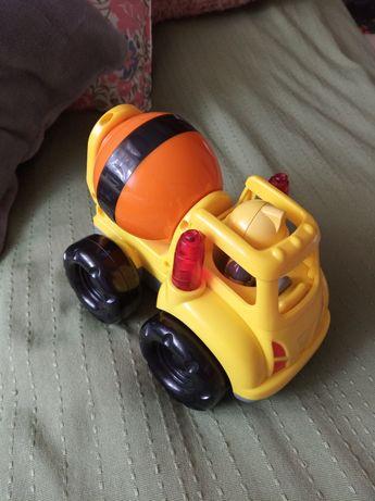 Samochód betoniarka z dźwiękiem