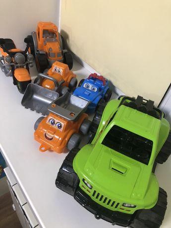 Игрушки машинки трактор мотоцикл