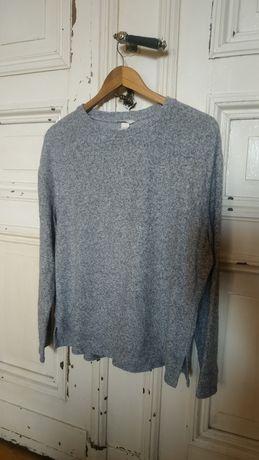 H&M bluza sweter szary prosty basic oversize S 36 M 38