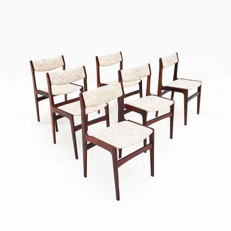 Conjunto de 6 cadeiras em pau santo
