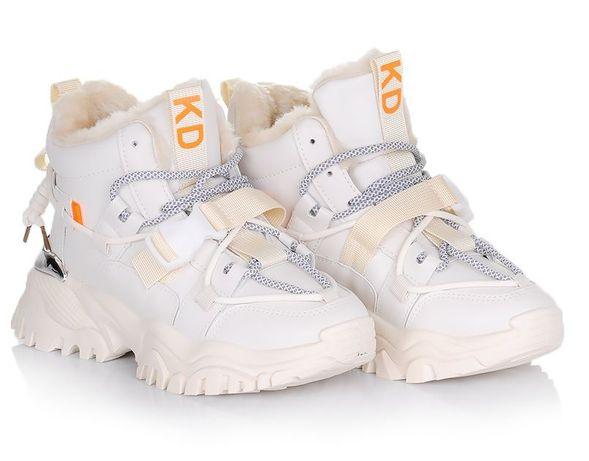 Бежевые женские ботинки кроссовки зимние зима 38 39