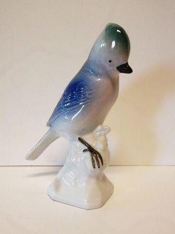 lindo pássaro vintage em porcelana europeia marcada