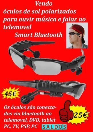 óculos de sol polarizados inteligentes com fones