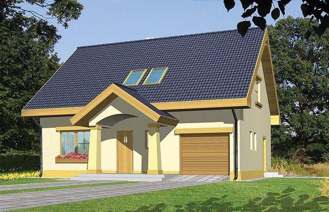 Projekt domu, Iskierka Południowa 119,9m.Tani w budowie.