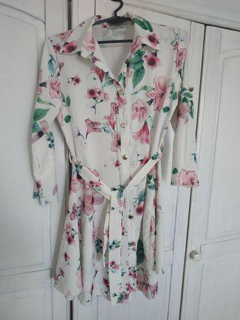 Sukienka w kwiaty w kwiatki
