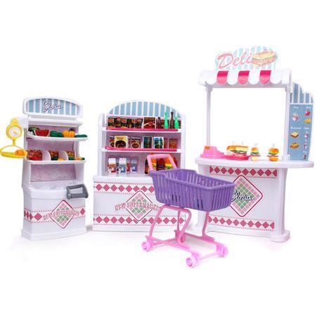 Supermarket dla lalki Barbie sklep lada kasa