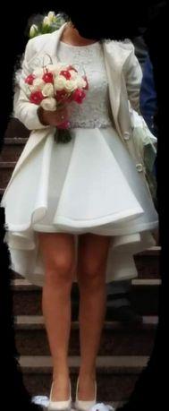 Ślub cywilny, kościelny, poprawiny krótka z dłuższym tyłem