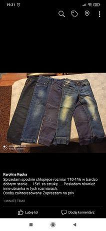 Spodnie chłopięce 110-116