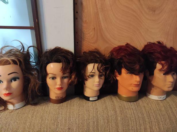 Głowy fryzjerskie treningowe