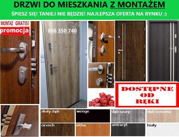Wewnątrzklatkowe drzwi wejściowe zewnętrzne z montażem do mieszkań