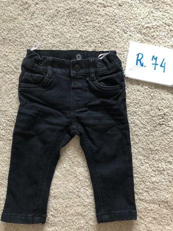 Ocieplane jeansy spodnie r.74 c&a
