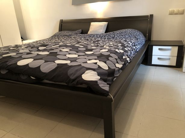 Łóżko 180*200 + szafki nocne +komoda+materac gratis