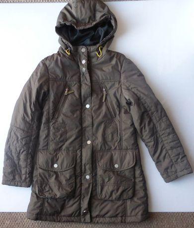 Płaszcz zimowy kurtka zimowa na zimę KAPPAHL 36 S brązowy płaszczyk