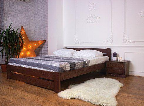 Только вам Деревянная Двуспальная Кровать 140х200 ЭКО. Усиленная Умань - изображение 1