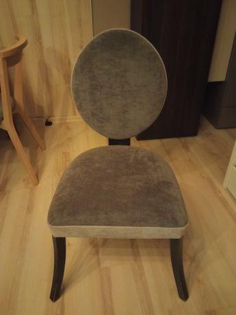 Krzesło welur szare